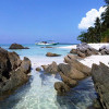 The beauty of sea and beach in karimunjawa